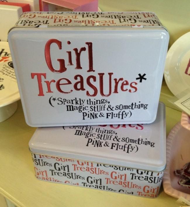 The Bright Side Girl Treasure Storeage Tin